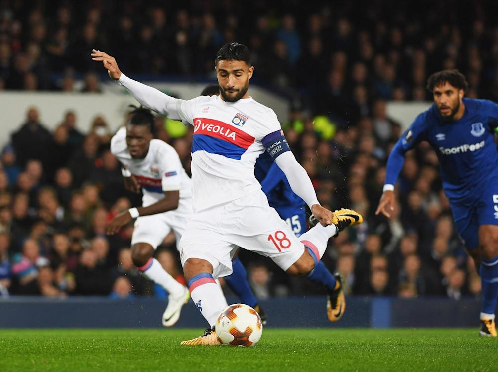 Fekir put Everton in front from the spot (Getty)