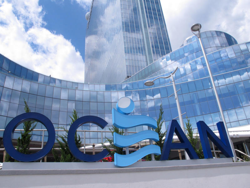 This May 15, 2019 photo shows the exterior of the Ocean Casino Resort in Atlantic City, N.J. Figures released by New Jersey gambling regulators on Friday, Nov. 22 show Atlantic City's nine casinos saw an increase in their gross operating profits of 12.5% in the third quarter of this year, to $239 million compared to the third quarter of 2018. (AP Photo/Wayne Parry)