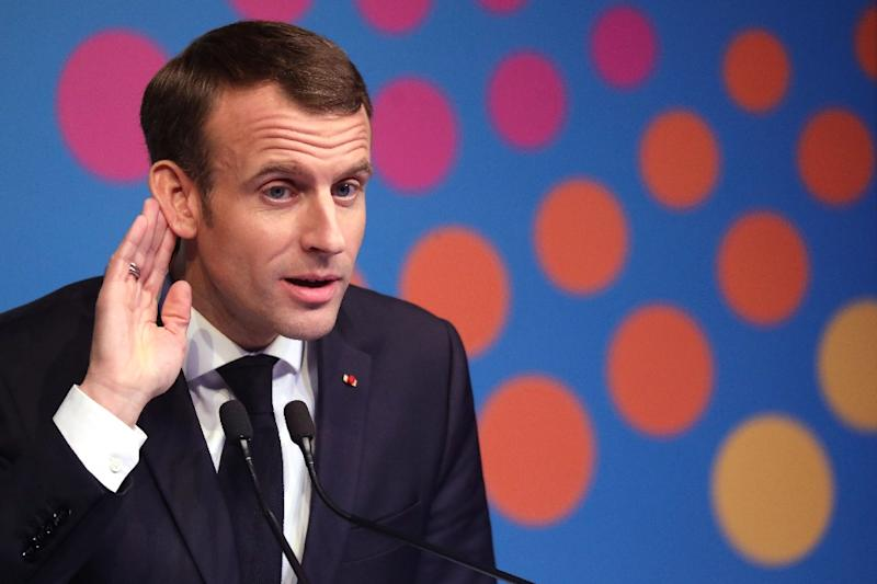 """President Emmanuel Macron has so far refused to back down on the fuel tax increases which sparked the """"yellow vest"""" protest movement"""
