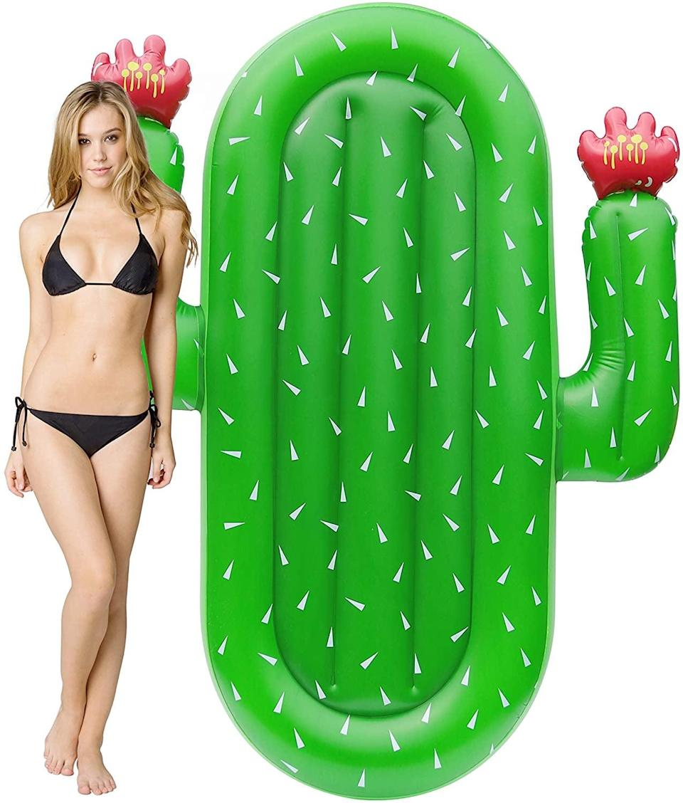 <p>If you're a plant parent, you'll love this <span>Kurala Inflatable Cactus Pool Float</span> ($24).</p>