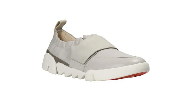 "<p>Tri Gardenia Light Grey Leather, $90, <a href=""https://www.clarksusa.com/us/womens/womens-shoes/womens-active/tri-gardenia-light-grey-leather/p/26127162"" rel=""nofollow noopener"" target=""_blank"" data-ylk=""slk:clarksusa.com"" class=""link rapid-noclick-resp"">clarksusa.com</a> </p>"