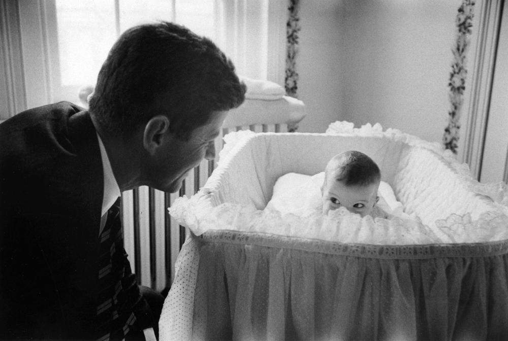 "Senator John F. Kennedy with daughter Caroline in 1958. <br><br><br><a href=""http://life.time.com/news/fathers-day-special-life-with-famous-dads/#1"">Click here</a> to see the full collection at LIFE.com…"