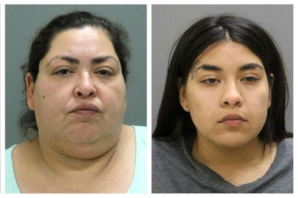 PHOTO: This combination of booking photos provided by the Chicago Police Department on May 16, 2019, shows from left, Clarisa Figueroa, 46; and Desiree Figueroa, 24. (Chicago Police Department via AP)