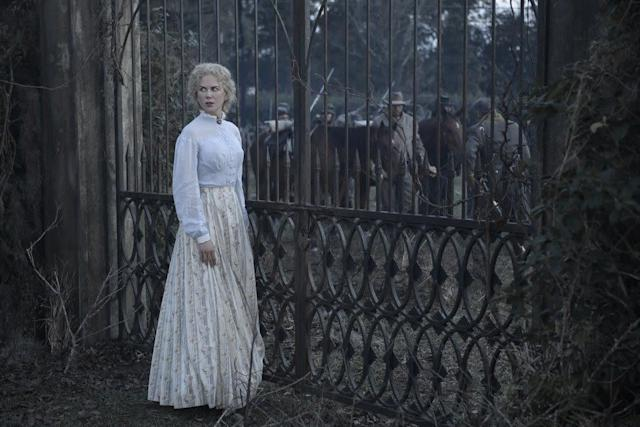"""Nicole Kidman won an Emmy for """"Big Little Lies"""" in September, and she has two moviesready for Oscar fodder: """"The Killing of a Sacred Deer"""" and """"The Beguiled."""" The former, an edgy art-house downer, will be a tough sit for the Academy's steak-and-potatoes bloc; the latter, on the other hand, bears theinsignia of theadmired Sofia Coppola. As the matriarch of an all-girls boarding school during the Civil War, Kidman is the movie'shighlight. She's a four-time nominee, but this gig may not be showy enough to make voters' ballots, especially since """"The Beguiled"""" opened in June,already afleeting memory."""