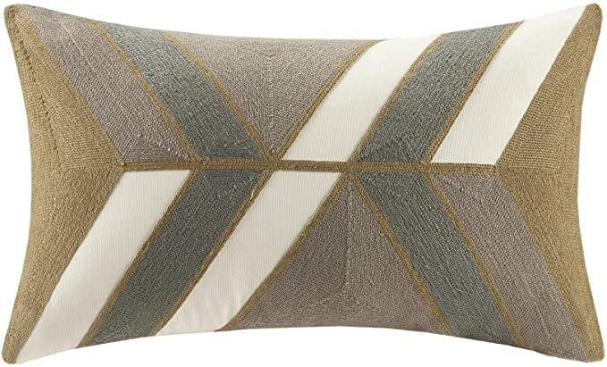 <p>Not only does this <span>INK+IVY Aero Cotton Decorative Pillow</span> ($35) look stylish on your home office seating, but it's actually useful for lumbar support. You can get this in a variety of colors and sizes as well!</p>