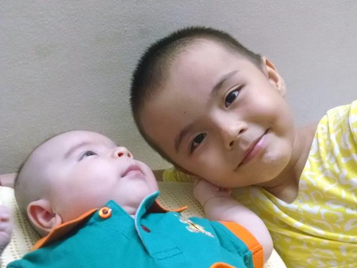 Abdurehim's children at their family home in Malaysia in June 2015.