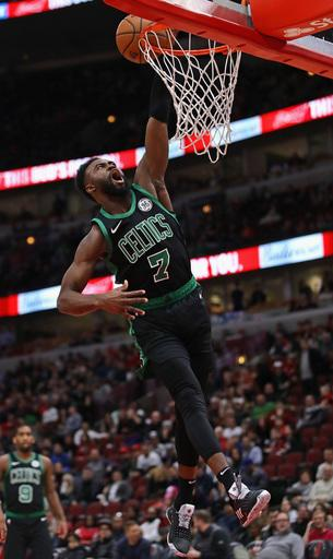 Brown nets 23, Celtics race past Bulls 133-77