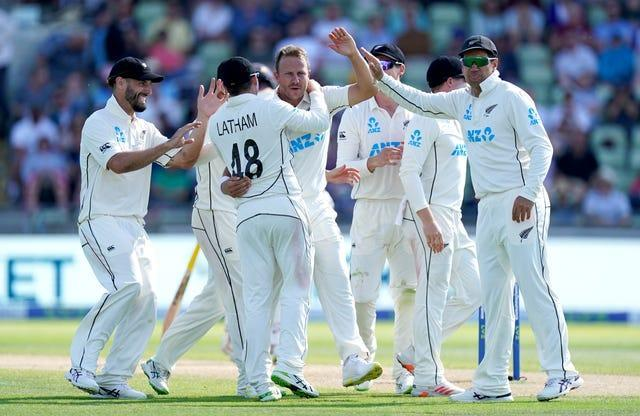 New Zealand reduced England to 122 for nine at the close