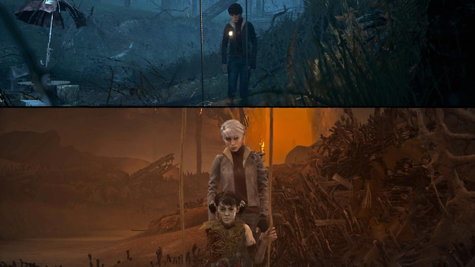 Screenshots from The Medium video game.