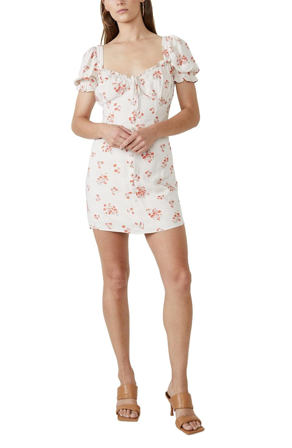 <p>This <span>Bardot Lucinta Floral Dress</span> ($109) is a crisp and modern pick for picnics.</p>