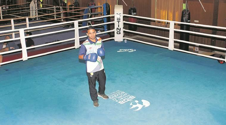 amit panghal, boxer, olympics, world championship, sports news, indian express