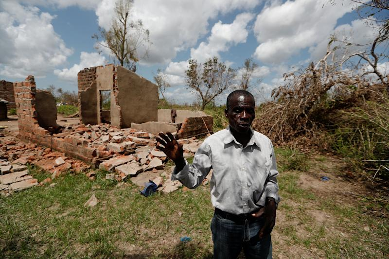 "Joao Jofresse Ngira, 59, speaks to Reuters in front of his damaged house in the aftermath of Cyclone Idai, in the village of Cheia, which means ""Flood"" in Portuguese, near Beira, Mozambique March 31, 2019. ""Since this disaster we haven't seen anyone from the government, even though they're the ones that put us here,"" he said. (Photo: Zohra Bensemra/Reuters)"