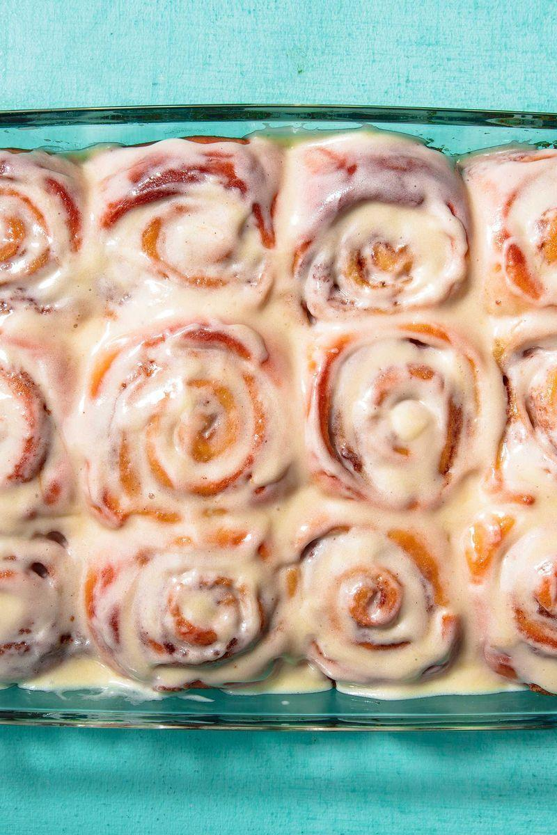 """<p>This recipe is a great jumping off point if you're trying to make morning rolls of any type. I'm not saying you should mess with the dough—it's perfectly buttery and fluffy! Where you have some wiggle room is the filling. The world is your cinnamon roll, make it your own.</p><p>Get the <a href=""""https://www.delish.com/uk/cooking/recipes/a32443785/cinnamon-rolls-recipe/"""" rel=""""nofollow noopener"""" target=""""_blank"""" data-ylk=""""slk:Classic Cinnamon Rolls"""" class=""""link rapid-noclick-resp"""">Classic Cinnamon Rolls</a> recipe.</p>"""