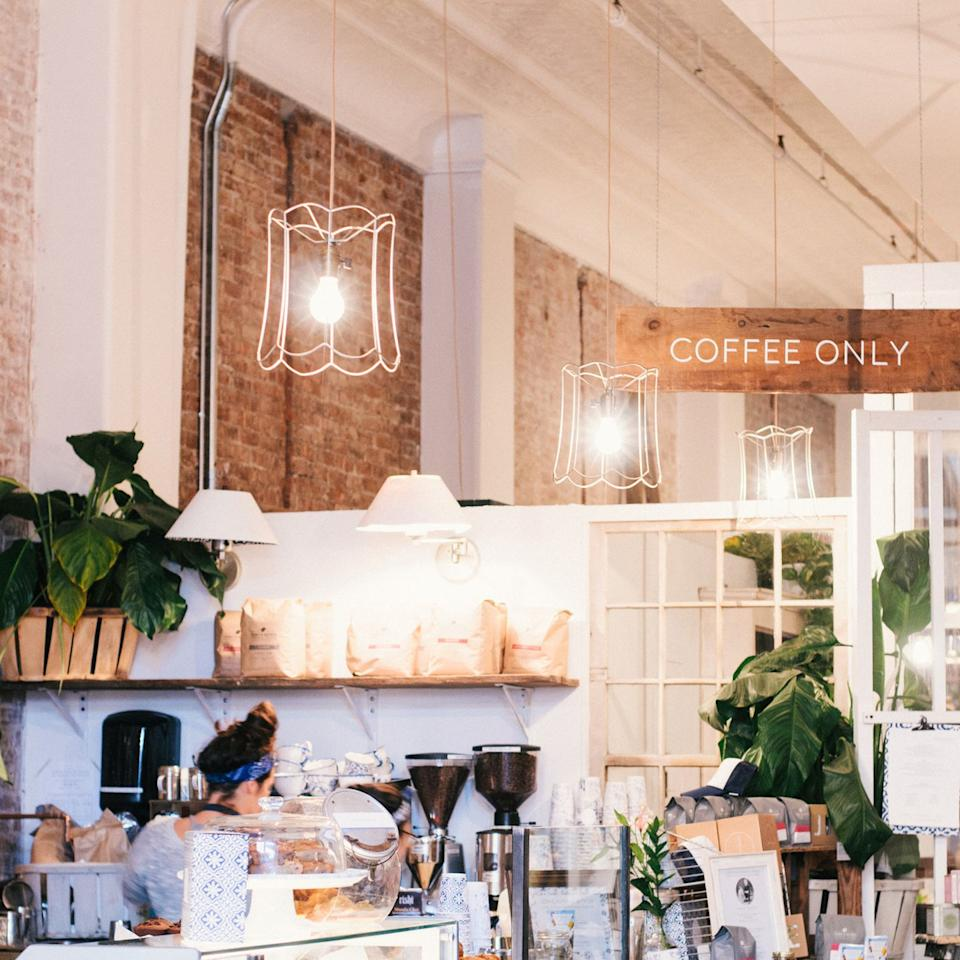"""<p>It's not possible to get a coffee without also adding one of this <a href=""""https://www.tripadvisor.com/Restaurant_Review-g60763-d7285005-Reviews-Maman-New_York_City_New_York.html"""" target=""""_blank"""">French bakery/cafe's</a> famous chocolate chip cookies to your order. Started in Soho in 2014 by Ben Sormonte and Elisa Marshall,<strong> </strong>this charming chainlet has quicky grown and now has numerous downtown locations. </p>"""