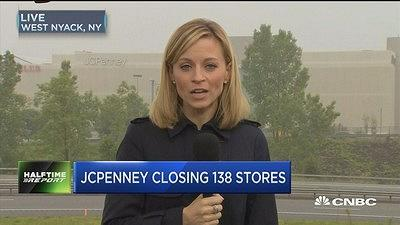 """CNBC's Courtney Reagan reports from outside a JCPenney store about the company's store closures and liquidation sales. The """"Fast Money Halftime Report"""" traders discuss when it's the time to sell the stock."""