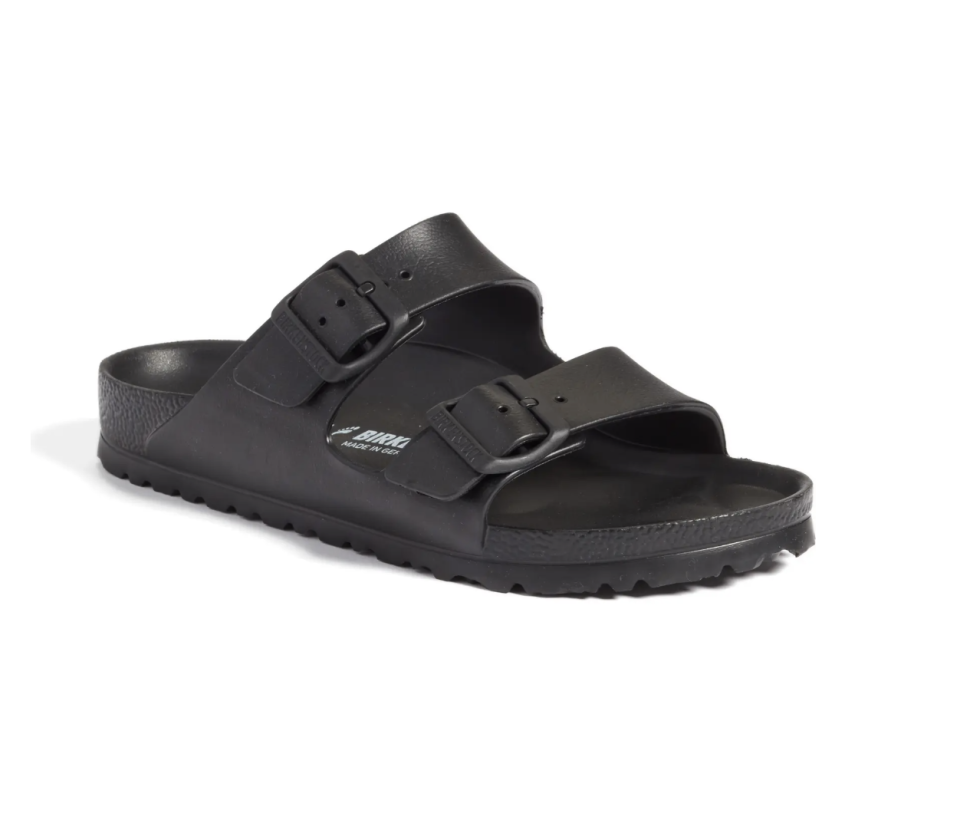 Essentials Arizona Waterproof Slide Sandal - Black-Nordstrom, $45