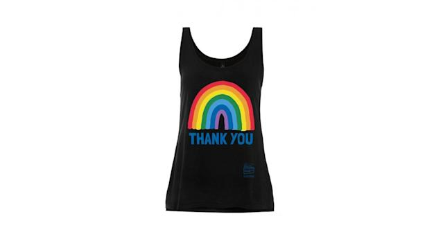Rainbow Thank You NHS Black Rainbow Vest