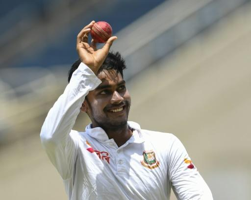Mehidy Hasan took his haul to five wickets as Bangladesh skittled out West Indies in Kingston, Jamaica, on Friday