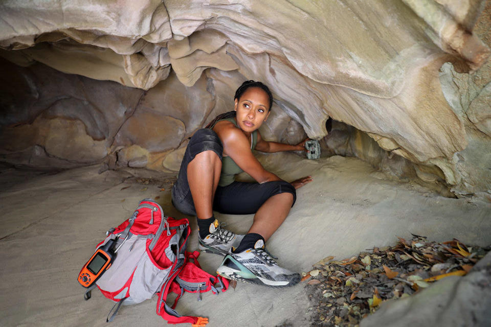 Dr. Wynn-Grant at the Santa Monica Mountains National Recreation Area for a large carnivore tracking. - Credit: Courtesy of Reebok