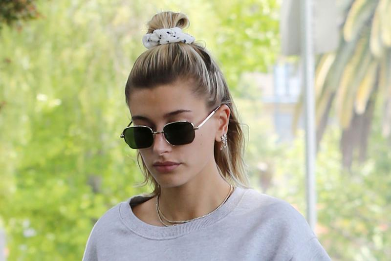 63c4f80ae9d Hailey Baldwin Nails Gym Style in Teensy Bike Shorts & '90s-Inspired Adidas  Sneakers