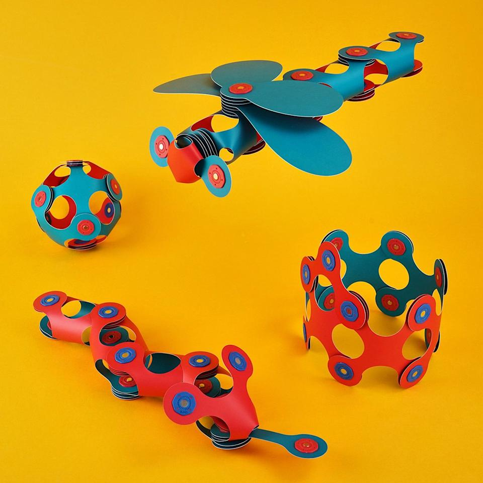 """These combine origami, magnets and building blocks for a completely new and unique way for kids to create and play. Not only are they different, but they're super fun and satisfying to play with (the click that the magnetic parts makes just sounds and feels so good).<br /><br /><strong>Get it from Clixo for <a href=""""https://go.skimresources.com?id=38395X987171&xs=1&url=https%3A%2F%2Fclixo.com%2Fproduct%2Fitsy-pack%2F&xcust=HPToddlerBirthday60919842e4b02e74d22c817c"""" target=""""_blank"""" rel=""""noopener noreferrer"""">$29.99</a> (available in three colors).</strong>"""