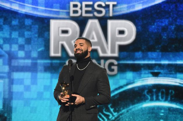 Drake accepts the Best Rap Song award for 'God's Plan' onstage backstage during the Grammy Awards at Staples Center on February 10, 2019 in Los Angeles