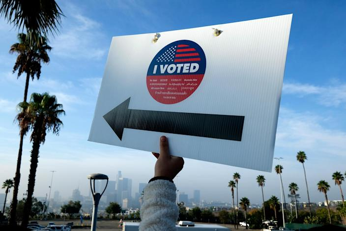 Election day in Los Angeles - Credit: Ringo Chiu/AP Images