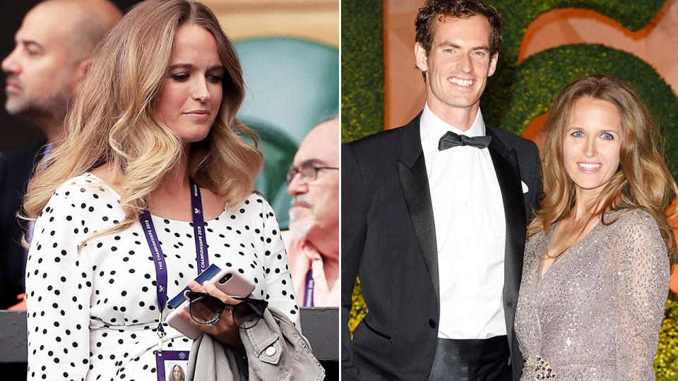 Andy Murray and wife Kim, pictured here at Wimbledon.