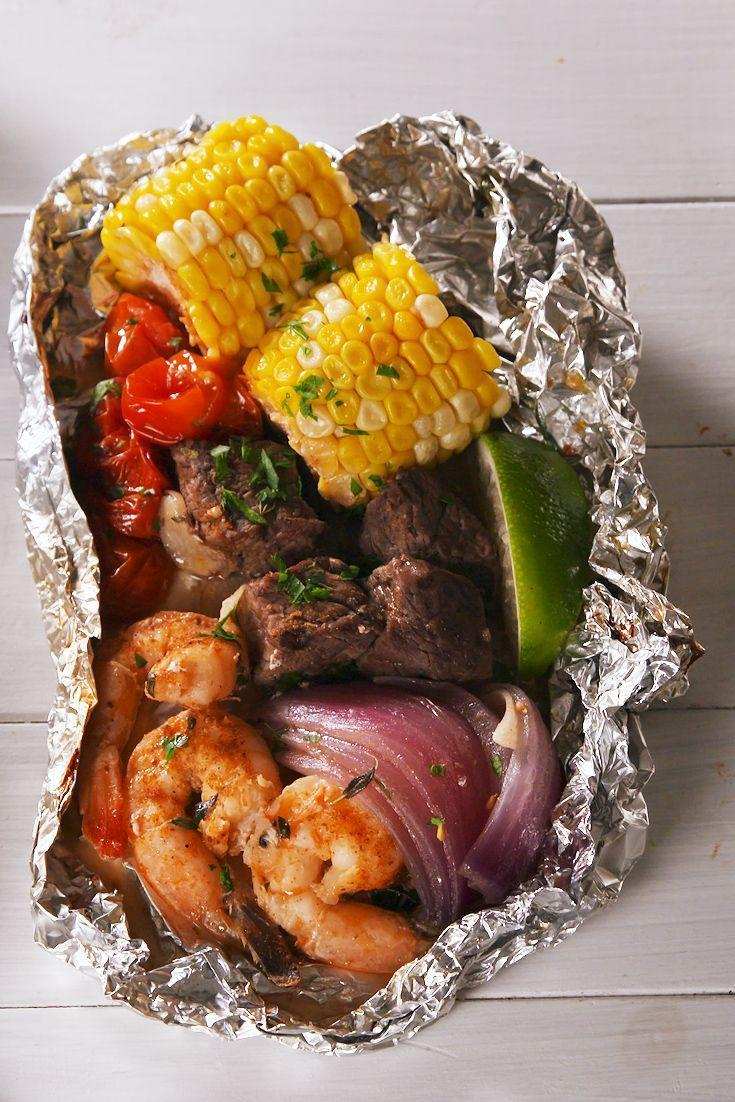 """<p>The best of both worlds.</p><p>Get the recipe from <a href=""""https://www.delish.com/cooking/recipe-ideas/a21755976/surf-n-turf-foil-packs-recipe/"""" rel=""""nofollow noopener"""" target=""""_blank"""" data-ylk=""""slk:Delish."""" class=""""link rapid-noclick-resp"""">Delish.</a></p>"""