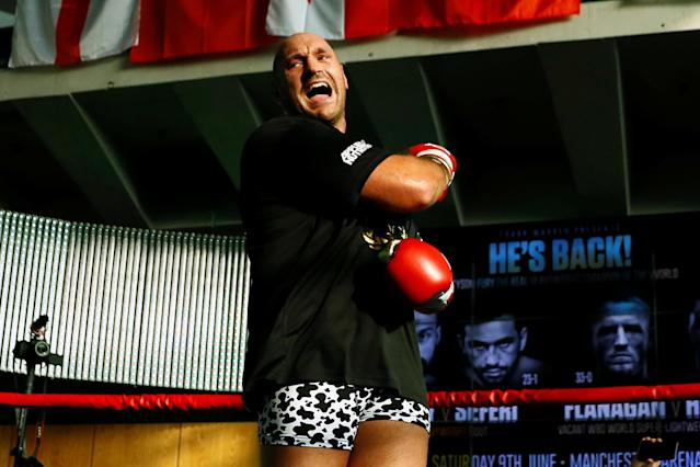 Tyson Fury (25-0, 18 KOs) opened as a whopping -20000 favorite over Sefer Seferi. (Reuters)