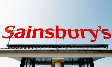 A Sainsbury store sign is seen in south London in this May 14, 2008 photograph.  REUTERS/Alessia Pierdomenico/Files