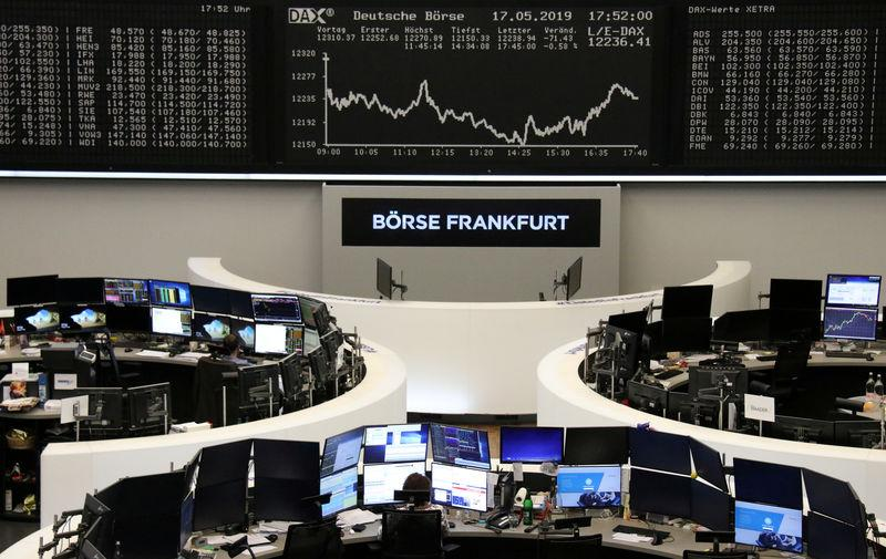 The German share price index DAX graph is pictured at the stock exchange in Frankfurt, Germany, May 17, 2019. REUTERS/Staff