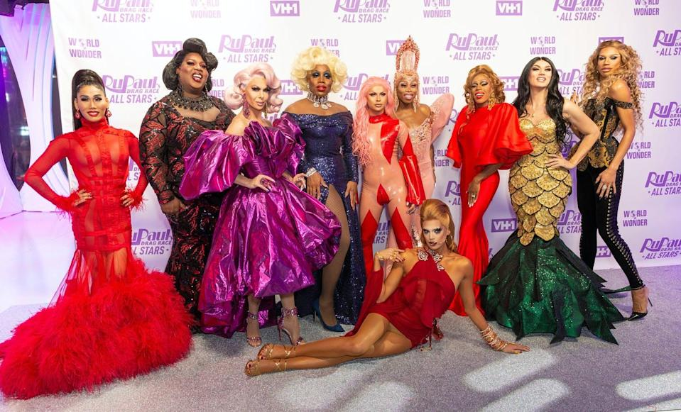 """<span class=""""caption"""">RuPaul's Drag Race All Stars attend Meet the Queens event at TRL Studios in Dec. 2018</span> <span class=""""attribution""""><span class=""""source"""">(Shutterstock)</span></span>"""