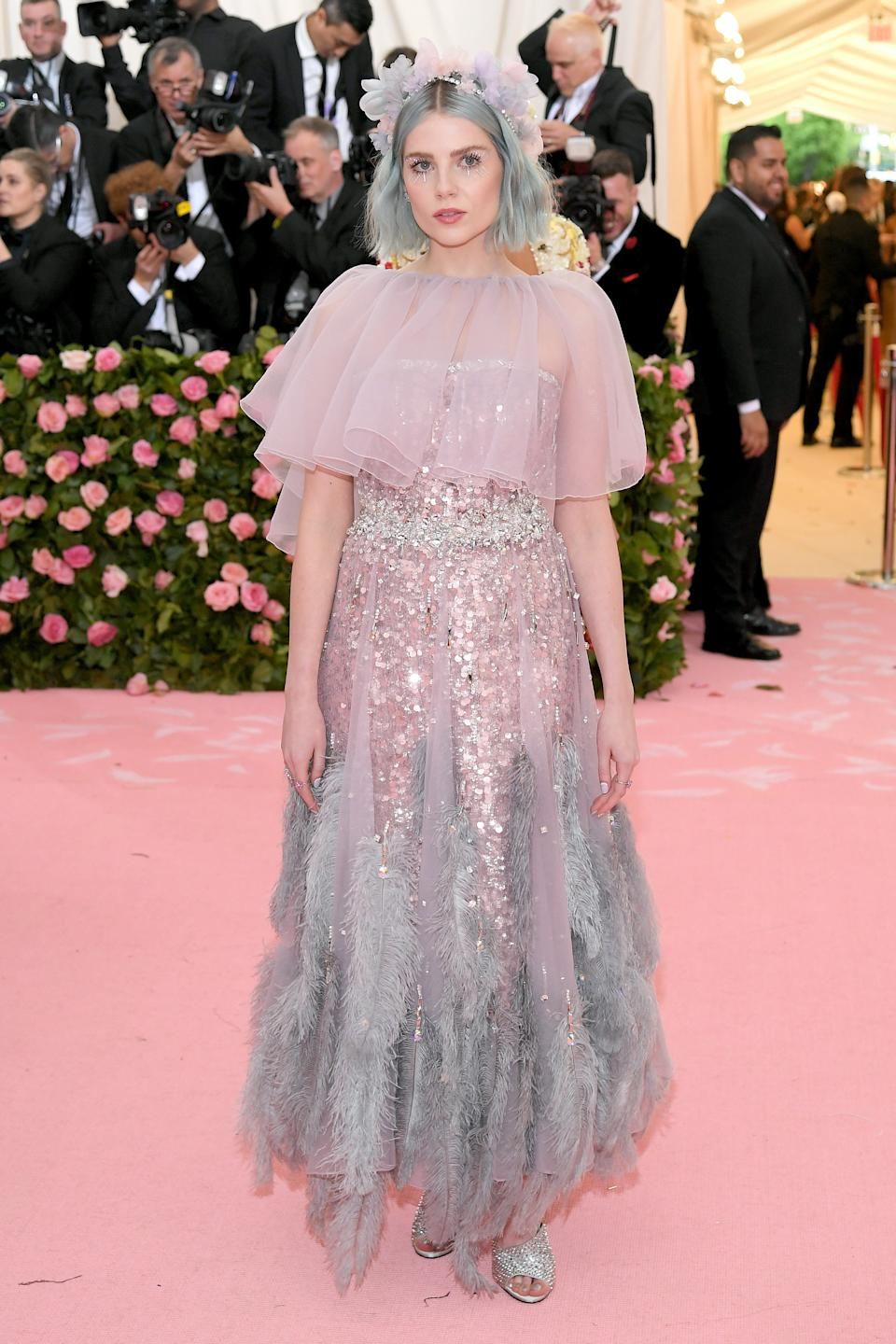 """<h1 class=""""title"""">Lucy Boynton in Prada</h1><cite class=""""credit"""">Photo: Getty Images</cite>"""
