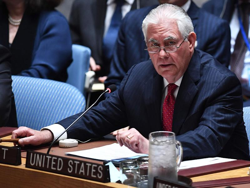 US Secretary of State Rex Tillerson discussed the ongoing tension with North Korea at a security council meeting at the UN: Getty