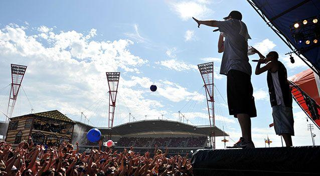 Aussie band Bliss n Eso performing at Big Day Out. Source: AAP