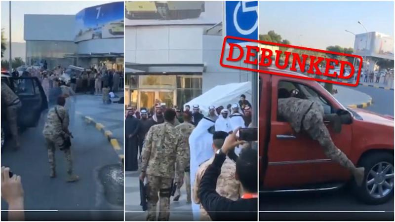 Does this video show an assassination attempt on a Saudi prince?