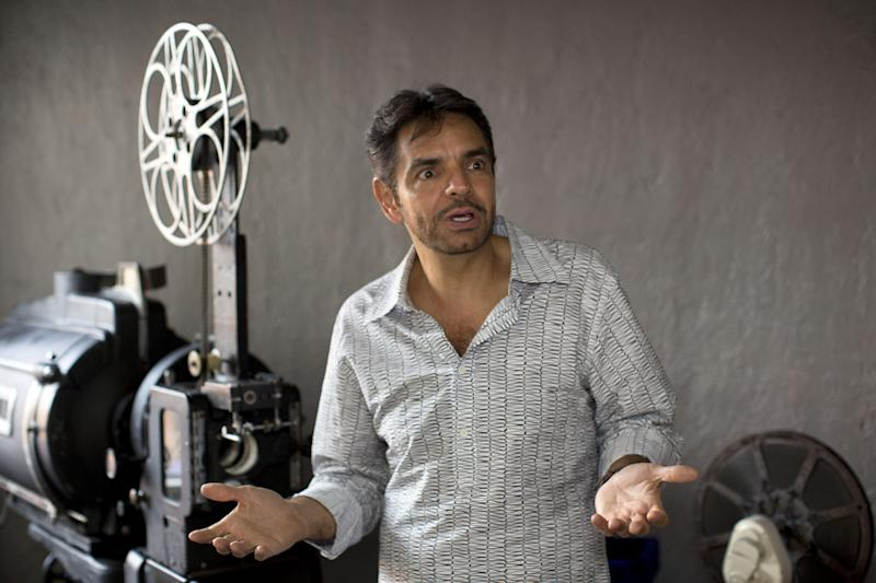 "In this Oct. 16, 2013 photo, Eugenio Derbez poses for a portrait during an interview in Mexico City. The Mexican writer, director and star of the surprise Hollywood hit ""Instructions Not Included"" was a virtual unknown among the general audience in the U.S., where the film debuted on Labor Day weekend. Derbez jokes that it took him 12 years to become an overnight sensation. The real punch line is that it took much longer. (AP Photo/Dario Lopez-Mills)"