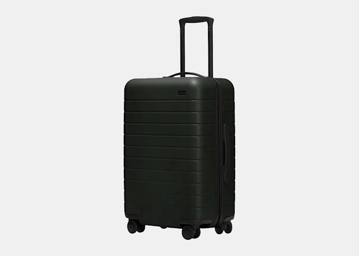 """As co-founder of the luggage and travel brand <a href=""""https://cna.st/affiliate-link/2RK3okCutzzX7LkUYQ1Vrum8ewHhrE2GxJshdrg9EoQYofXdoaLbUkts9DzFNt6Z3puSCgD6ZHfb4?cid=6079b2ebb5828c9ce9981e1b"""" rel=""""nofollow noopener"""" target=""""_blank"""" data-ylk=""""slk:Away"""" class=""""link rapid-noclick-resp"""">Away</a>, Filipino American <a href=""""https://www.cntraveler.com/story/secrets-of-away-luggage-women-who-travel-podcast?mbid=synd_yahoo_rss"""" rel=""""nofollow noopener"""" target=""""_blank"""" data-ylk=""""slk:Jen Rubio"""" class=""""link rapid-noclick-resp"""">Jen Rubio</a> promptly ensured a major <a href=""""https://twitter.com/jennifer/status/1372977413299302410"""" rel=""""nofollow noopener"""" target=""""_blank"""" data-ylk=""""slk:contribution"""" class=""""link rapid-noclick-resp"""">contribution</a> to Stop Asian Hate, <a href=""""https://www.gofundme.com/f/support-aapi-community-fund"""" rel=""""nofollow noopener"""" target=""""_blank"""" data-ylk=""""slk:a community fund"""" class=""""link rapid-noclick-resp"""">a community fund</a> to fight the surge in anti-Asian violence, in the days following the Atlanta tragedy. (Rubio also <a href=""""https://www.theverge.com/2020/7/2/21312005/away-employees-steph-korey-instagram"""" rel=""""nofollow noopener"""" target=""""_blank"""" data-ylk=""""slk:spoke out"""" class=""""link rapid-noclick-resp"""">spoke out</a> about the controversies surrounding her co-founder Steph Korey last summer, saying that the company is doing """"deep work"""" around """"diversity, equity, and inclusion."""") Best known for its savvy lightweight rolling suitcases like <a href=""""https://cna.st/affiliate-link/428C3oXt36Tzp1MJjJamrmBZWsnKBst3BqbZYghnP8bomTybtCN2SikvtWozy21JurZoUZJXAdxhpKR4VBzoG1tQtej1Vz894fqPr8Mw5JqcpSsjc1PzrJJYrSUDnXVTnw6bsKJhwBxa6?cid=6079b2ebb5828c9ce9981e1b"""" rel=""""nofollow noopener"""" target=""""_blank"""" data-ylk=""""slk:The Bigger Carry-On"""" class=""""link rapid-noclick-resp"""">The Bigger Carry-On</a> ($245), the lifestyle brand just launched a new line of <a href=""""https://cna.st/affiliate-link/ms25gbZTiZJQJbydDr4zBAzQPkojCVAni69CmkDM4KGfCccw7umwVyfaztVJB81uznQ8WZRpoZ1QwdqXhN7nb"""