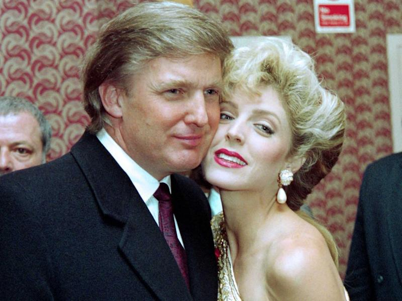 Donald Trump with his second wife Marla Maples in 1993. (Getty)