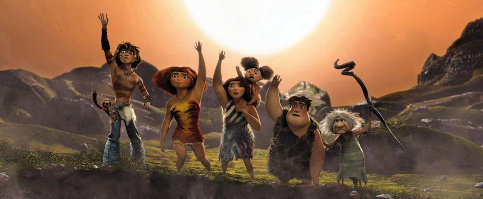 """<p><strong>Netflix's Description:</strong> """"When an earthquake obliterates their cave, an unworldly prehistoric family is forced to journey through unfamiliar terrain in search of a new home.""""</p> <p><a href=""""https://www.netflix.com/title/70143241"""" class=""""link rapid-noclick-resp"""" rel=""""nofollow noopener"""" target=""""_blank"""" data-ylk=""""slk:Stream The Croods on Netflix!"""">Stream <strong>The Croods</strong> on Netflix!</a></p>"""
