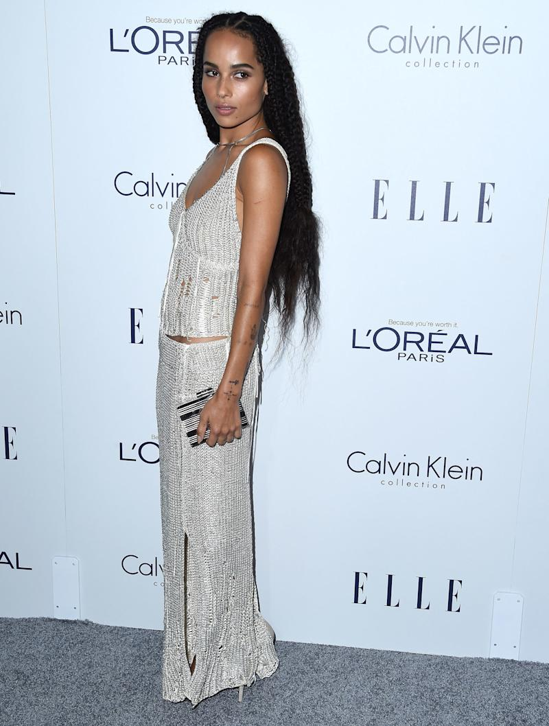 Kravitz arrives at the 22nd Annual ELLE Women In Hollywood Awards at Four Seasons Hotel Los Angeles at Beverly Hills on October 19, 2015.
