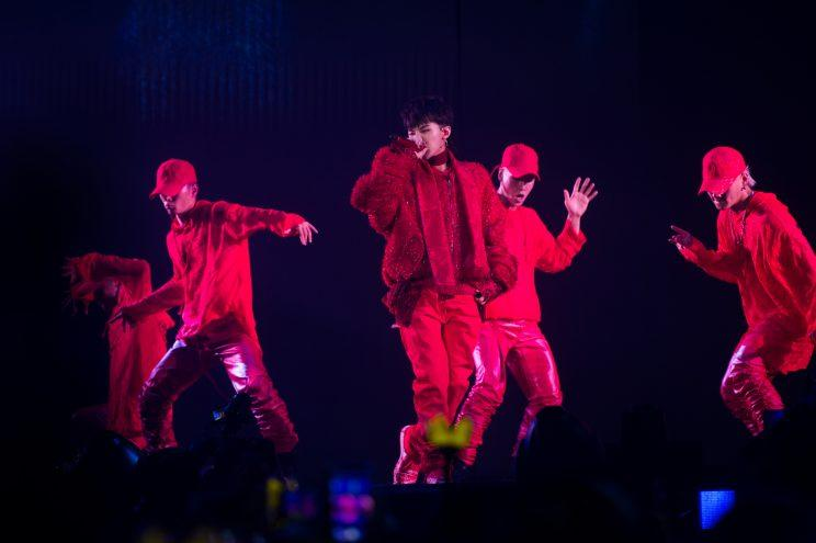 G-Dragon at his '2017 Concert: Act III, M.O.T.T.E' in Singapore (Photo: IME Group Pte Ltd and Live Nation Korea)