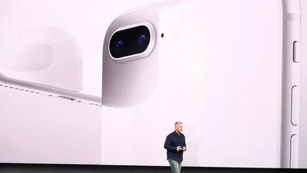 PHOTO: Apple Senior Vice President of Worldwide Marketing, Phil Schiller, introduces the iPhone 8 during a launch event in Cupertino, Califo., Sept. 12, 2017. (Stephen Lam/Reuters)