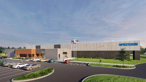 Rendering of new McKesson distribution center currently under construction in Holt, MI is expected to open in fall 2021 Rendering courtesy of McKesson.