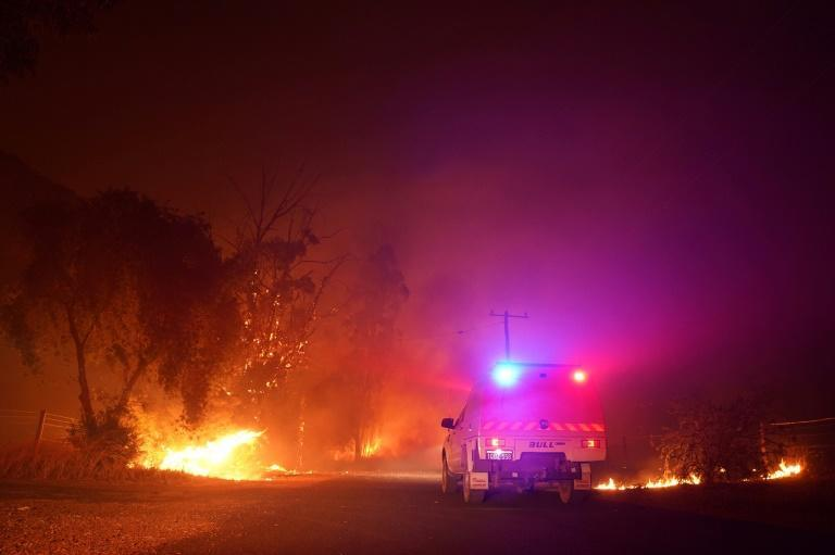 Hundreds of people have fled the area since the bushfire was sparked on Monday