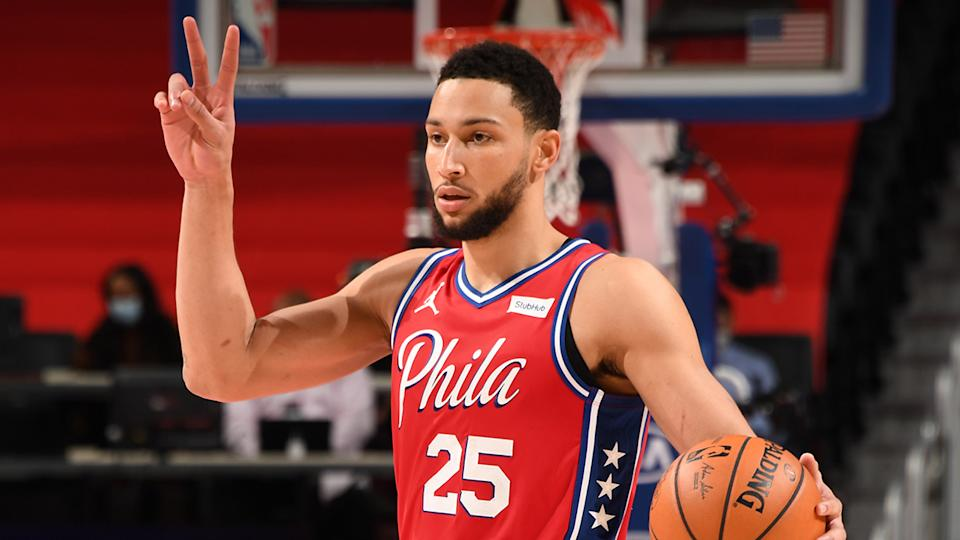 Ben Simmons will be one of 12 players with NBA experience to play for the Boomers at the Tokyo Olympics. (Photo by Chris Schwegler/NBAE via Getty Images)