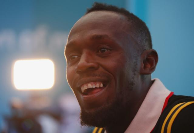 Gold Coast 2018 Commonwealth Games - Gold Coast, Australia - April 12, 2018. Former Jamaican sprinter Usain Bolt addresses a press conference. REUTERS/David Gray