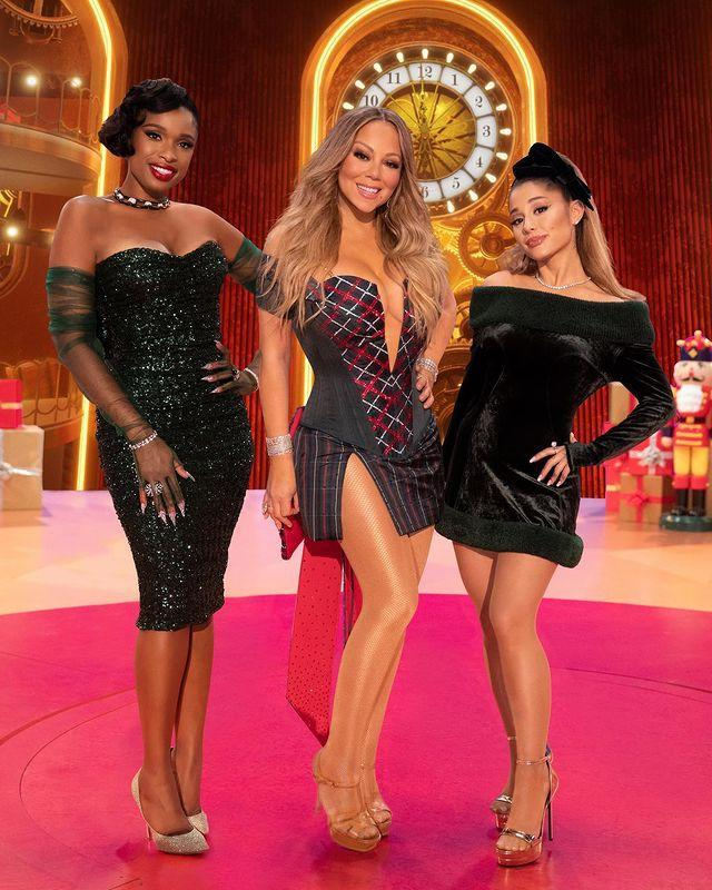"""<p>Last year, Christmas felt extra special when Grande teamed up with Mariah Carey and Jennifer Hudson for <a href=""""https://people.com/music/mariah-carey-christmas-special-trailer/"""" rel=""""nofollow noopener"""" target=""""_blank"""" data-ylk=""""slk:Mariah Carey's Magical Christmas Special"""" class=""""link rapid-noclick-resp""""><em>Mariah Carey's Magical Christmas Special</em></a>. The powerhouse vocalists debuted a <a href=""""https://people.com/music/mariah-carey-ariana-grande-jennifer-hudson-oh-santa-video-christmas/"""" rel=""""nofollow noopener"""" target=""""_blank"""" data-ylk=""""slk:brand-new collaboration of Carey's &quot;Oh Santa!&quot;"""" class=""""link rapid-noclick-resp"""">brand-new collaboration of Carey's """"Oh Santa!""""</a></p>"""