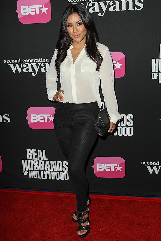"Zuleyka Silver arrives at the screenings of BET Networks' ""Real Husbands of Hollywood"" and ""Second Generation Wayans"" held at the Regal Cinemas L.A. Live on January 8, 2013 in Los Angeles, California."